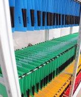 Open rack for hanging folders