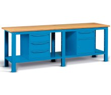 Radionički stol 250x75 cm, sa 4 ladice i ormarićem