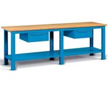 Radionički stol 250x75 cm, sa 2 ladice i policom