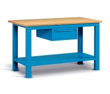 Radionički stol 150x75 cm, sa ladicom i policom