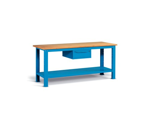 Workbench 200cm with one drawer and shelf
