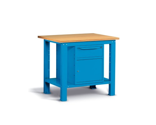 Workbench 102 cm with one drawer and door