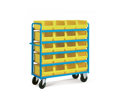 Toll trolley with plastic containers