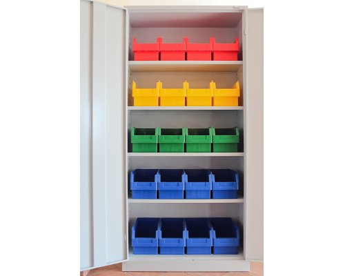 Metal cabinet with plastic boxes MOPE MAT 195x92