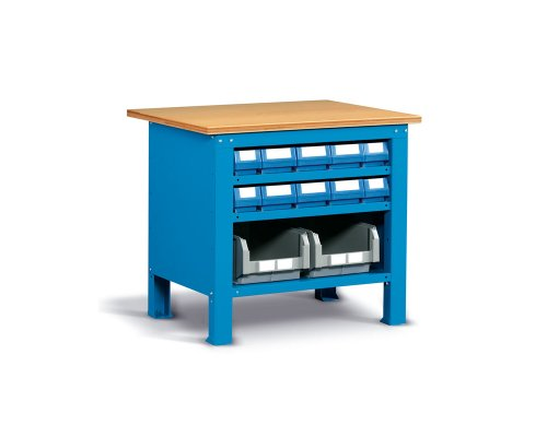 Workbench 102cm with shelf and containers