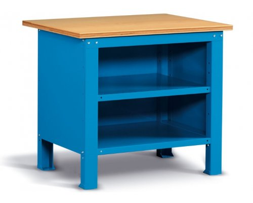 Workbench with 2 shelves, closed 103x75 cm