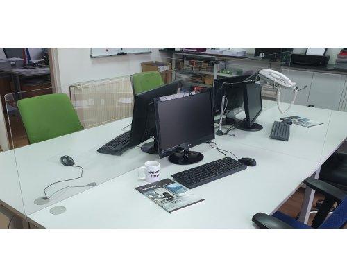 Office plexiglas separators