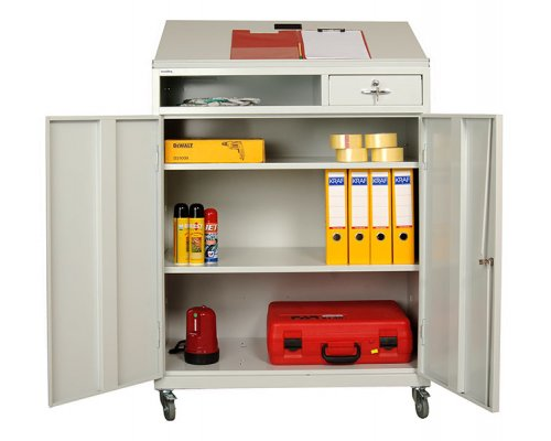 Tool cabinet with angled top KP MAT 3